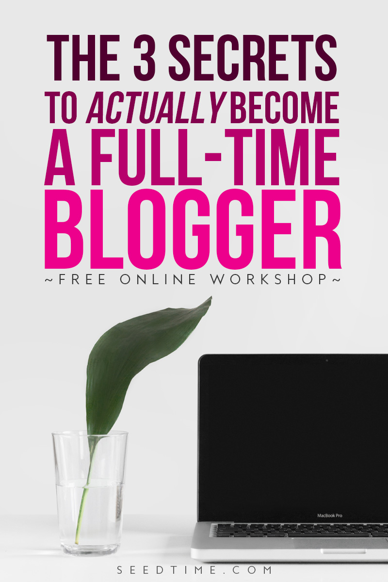 FREE online workshop teaching 3 things most bloggers are doing wrong that will catapult their blog growth -