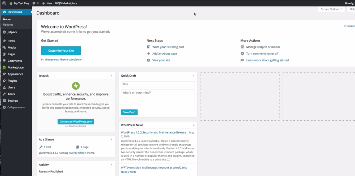 WordPress_Dashboard